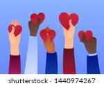 people holding hearts. charity... | Shutterstock .eps vector #1440974267