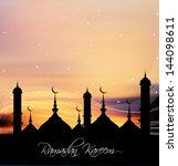 ramadan beautiful bright... | Shutterstock .eps vector #144098611