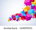 cubic tornado wave   abstract... | Shutterstock .eps vector #144099451