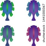 set of four creative fishes....   Shutterstock .eps vector #1441000367