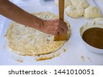 preparation of homemade poppy... | Shutterstock . vector #1441010051
