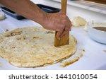 preparation of homemade poppy... | Shutterstock . vector #1441010054