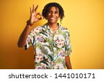 afro man with dreadlocks on... | Shutterstock . vector #1441010171