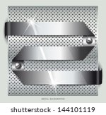 metal background.vector... | Shutterstock .eps vector #144101119