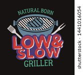 vintage bbq grill graphics for... | Shutterstock .eps vector #1441016054