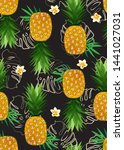 pineapple seamless pattern with ...   Shutterstock .eps vector #1441027031