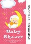 baby shower card | Shutterstock .eps vector #144102931