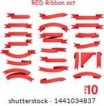 red ribbon sets vector... | Shutterstock .eps vector #1441034837
