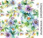 bouquet floral botanical... | Shutterstock . vector #1441049621