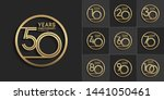 sets of anniversary design with ... | Shutterstock .eps vector #1441050461
