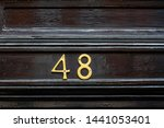 house number 48 with the forty... | Shutterstock . vector #1441053401