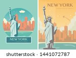 Statue Of Liberty Banner Set....