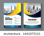 brochure design  cover modern... | Shutterstock .eps vector #1441075121