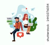 flat design vector concept... | Shutterstock .eps vector #1441076054