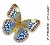 Stock photo blue butterfly isolated on white background 144108394