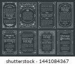 vintage set retro cards.... | Shutterstock .eps vector #1441084367