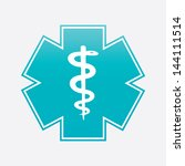 caduceus medical symbol... | Shutterstock . vector #144111514