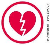 flat design heart icon vector   Shutterstock .eps vector #1441139774