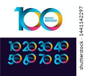 set 100 year anniversary vector ... | Shutterstock .eps vector #1441142297