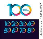 set 100 year anniversary vector ... | Shutterstock .eps vector #1441142297