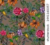 watercolor seamless pattern... | Shutterstock . vector #1441160357