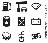 gas pump icons | Shutterstock .eps vector #144119119