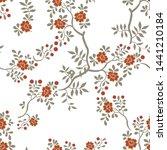 seamless pattern of flowers ...   Shutterstock .eps vector #1441210184