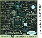 vector set  calligraphic...   Shutterstock .eps vector #144122185