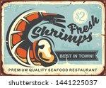 Fresh Shrimps Vintage Sign...
