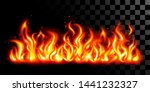 fire flames background of red... | Shutterstock .eps vector #1441232327