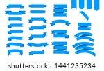 blue ribbons banners. ribbon... | Shutterstock .eps vector #1441235234
