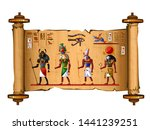 ancient egypt papyrus scroll... | Shutterstock .eps vector #1441239251