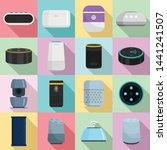 smart speaker icons set. flat...   Shutterstock .eps vector #1441241507