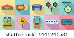 railway station icons set. flat ...   Shutterstock .eps vector #1441241531