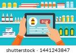 online pharmacy concept... | Shutterstock .eps vector #1441243847