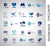 Heart Icons Set - Isolated On Gray Background - Vector Illustration, Graphic Design Editable For Your Design. Hearts Logo