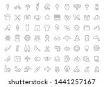set of line icons of summer for ... | Shutterstock . vector #1441257167