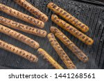 cooking sausages on the... | Shutterstock . vector #1441268561