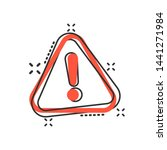 exclamation mark icon in comic... | Shutterstock .eps vector #1441271984
