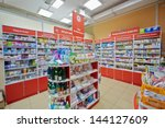 moscow   dec 8  pharmacy... | Shutterstock . vector #144127609
