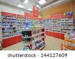 moscow   dec 8  pharmacy... | Shutterstock . vector #144127609