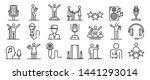 singer icons set. outline set... | Shutterstock .eps vector #1441293014