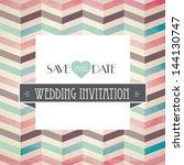 vector illustration. wedding... | Shutterstock .eps vector #144130747