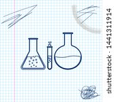 test tube and flask   chemical... | Shutterstock .eps vector #1441311914