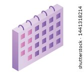calendar icon. isometric of...