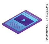 modern tablet icon. isometric...
