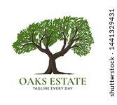 tree oaks logo design   vector | Shutterstock .eps vector #1441329431