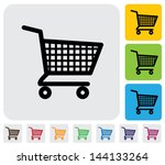 shopping cart icons   signs  ... | Shutterstock .eps vector #144133264