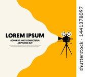 movie and film poster modern...   Shutterstock .eps vector #1441378097