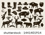 big set of hand draw vintage... | Shutterstock .eps vector #1441401914